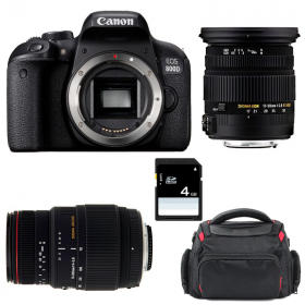 Canon EOS 800D + Sigma 17-50 F2.8 DC OS EX HSM + Sigma 70-300 f/4-5,6 APO DG MACRO + Bag + SD 4Go   2 Years Warranty