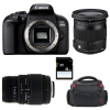 Canon EOS 800D + Sigma 17-70 mm f/2,8-4 DC Macro OS HSM Cont. + Sigma 70-300 mm f/4-5,6 DG + Bag + SD 4Go | Garantie 2 ans