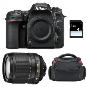 Nikon D7500 + AF-S DX 18-105 mm f/3.5-5.6G ED VR + Bolsa + SD 4Go