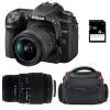Nikon D7500 + AF-P DX NIKKOR 18-55 mm f/3.5-5.6G VR + Sigma 70-300 mm f/4-5,6 DG Macro + Bolsa + SD 4Go