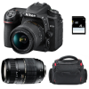 Nikon D7500 + AF-P DX 18-55 mm f/3.5-5.6G VR + Tamron AF 70-300 mm f/4-5,6 Di LD Macro 1/2 + Sac + SD 4Go | Garantie 2 ans