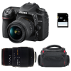 Nikon D7500 + AF-P DX NIKKOR 18-55 mm f/3.5-5.6G VR + Sigma 70-300 mm f/4-5,6 DG APO Macro + Bag + SD 4Go | 2 Years Warranty