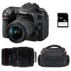 Nikon D7500 + AF-P DX NIKKOR 18-55 mm f/3.5-5.6G VR + Sigma 70-300 mm f/4-5,6 DG APO Macro + Bolsa + SD 4Go | 2 años de garantía