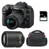 Nikon D7500 + AF-P DX NIKKOR 18-55 mm f/3.5-5.6G VR + AF-S DX 55-200 mm f/4-5.6 ED VR II + Sac + SD 4Go | Garantie 2 ans