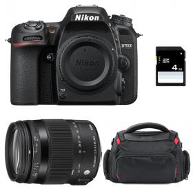 Nikon D7500 + Sigma 18-200 f/3,5-6,3 DC OS HSM MACRO Contemporary + Sac + SD 4Go