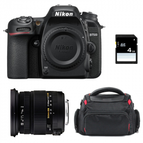 Nikon D7500 + Sigma 17-50 mm f/2,8 DC OS EX HSM + Sac + SD 4Go