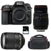 Nikon D7500 + AF-S DX 18-105 mm f/3.5-5.6G ED VR + Sigma 70-300 mm f/4-5,6 DG APO Macro + Bag + SD 4Go | 2 Years Warranty