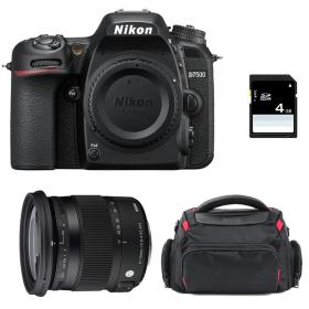 Nikon D7500 + Sigma 17-70 mm f/2,8-4 DC Macro OS HSM Contemporary + Sac + SD 4 Go