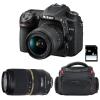 Nikon D7500 + AF-P DX 18-55mm 3.5-5.6G VR + Tamron AF 70-300mm f/4-5.6 SP Di VC USD + Bolsa + SD 4Go