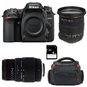 Nikon D7500 + Sigma 17-50 DC OS EX HSM + Sigma 70-300 DG APO MACRO + Sac + SD 4Go