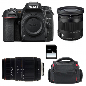 Nikon D7500 + Sigma 17-70 mm f/2,8-4 DC Macro OS HSM Cont. + Sigma 70-300 mm f/4-5,6 DG APO Macro + Sac + SD4Go