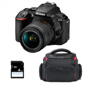 Nikon D5600 + AF-P DX NIKKOR 18-55 mm f/3.5-5.6G VR + Bag + SD 4Go | 2 Years Warranty