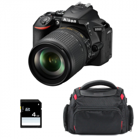 Nikon D5600 + AF-S DX 18-105 mm f/3.5-5.6G ED VR + Bolsa + SD 4Go