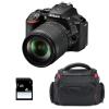Nikon D5600 + AF-S DX 18-105 mm f/3.5-5.6G ED VR + Sac + SD 4Go | Garantie 2 ans