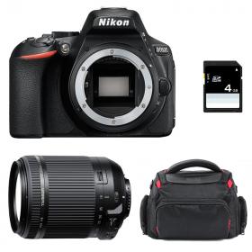 Nikon D5600 + Tamron 18-200 mm F/3.5-6.3 Di II VC + Bag + SD 4Go   2 Years Warranty