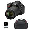 Nikon D5600 + AF-S DX 18-140 mm f/3.5-5.6G ED VR + Bolsa + SD 4Go