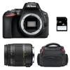 Nikon D5600 + Sigma 18-250 mm f/3,5-6,3 DC MACRO OS HSM + Bolsa + SD 4Go