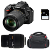 Nikon D5600 + AF-S DX 18-105 mm f/3.5-5.6G ED VR + Sigma 70-300 mm f/4-5,6 DG Macro + Sac + SD 4Go | Garantie 2 ans