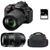 Nikon D5600 + AF-S DX 18-105 mm f/3.5-5.6G ED VR + Tamron AF 70-300 mm f/4-5,6 Di LD Macro 1/2 + Bag + SD 4Go | 2 Years Warranty