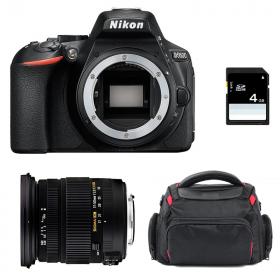 Nikon D5600 + Sigma 17-50 mm f/2,8 DC OS EX HSM + Sac + SD 4Go