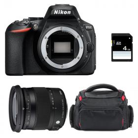 Nikon D5600 + Sigma 17-70 DC OS HSM Contemporary + Sac + SD 4Go
