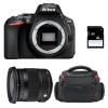 Nikon D5600 + Sigma 17-70 DC OS HSM Contemporary + Sac + SD 4Go | Garantie 2 ans