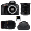 Nikon D5600 + Sigma 17-50 mm f/2,8 DC OS EX HSM + Sigma 70-300 mm f/4-5,6 DG APO Macro + Bag + SD 4Go | 2 Years Warranty