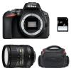 Nikon D5600 + AF-S DX 16-85 mm f/3.5-5.6G ED VR + Bolsa + SD 4Go