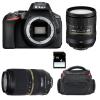 Nikon D5600 + AF-S DX 16-85 mm f/3.5-5.6G ED VR + Tamron SP AF 70-300 mm f/4-5.6 Di VC USD + Bag + SD 4Go | 2 Years Warranty