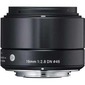 "Sigma 19mm F2.8 DN ""A"" Black for Sony E | 2 Years Warranty"