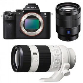 Sony ALPHA 7 II + SEL Vario-Tessar T* FE 24-70 mm f/4 ZA OSS + SEL FE 70-200 mm f/4 G OSS   2 Years Warranty