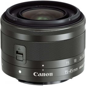 Canon EF-M 15-45 mm F3.5-6.3 IS STM Black | 2 Years Warranty