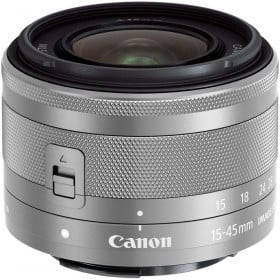 Canon EF-M 15-45 mm F3.5-6.3 IS STM Silver | 2 Years Warranty