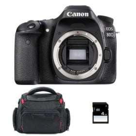Canon EOS 80D Nu + Sac + SD 4Go