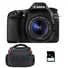 Canon EOS 80D + EF-S 18-55 mm IS STM + Bolsa + SD 4Go