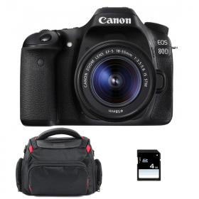 Canon EOS 80D + EF-S 18-55 mm IS STM + Sac + SD 4Go