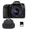 Canon EOS 80D + EF-S 18-55 mm IS STM + Sac + SD 4Go | Garantie 2 ans