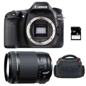 Canon EOS 80D + Tamron 18-200 mm F/3.5-6.3 Di II VC + Bag + SD 4Go | 2 Years Warranty