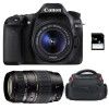 Canon EOS 80D + EF-S 18-55 mm IS STM + Tamron AF 70-300 mm f/4-5,6 Di LD Macro 1/2 + Bag + SD 4Go | 2 Years Warranty