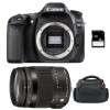 Canon EOS 80D + Sigma 18-200 mm f/3,5-6,3 DC OS HSM MACRO Contemporary + Bag + SD 4Go   2 Years Warranty