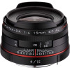 Pentax DA 15mm F4 ED AL Limited HD   2 Years Warranty