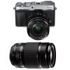 Fujifilm X-E3 Silver + Fujinon XF 18-55 mm f/2.8-4 R LM OIS + Fujinon XF 55-200 mm f/3.5-4.8 R LM OIS | Garantie 2 ans