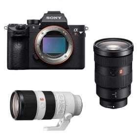 Cámara mirrorless Sony A7R III + SEL FE 24-70 mm f/2.8 GM + SEL FE 70-200 mm f/2.8 GM OSS