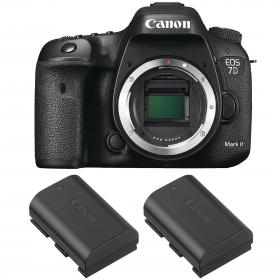 Canon EOS 7D Mark II + 2 Canon LP-E6N