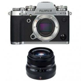 Fujifilm X-T3 Plata + Fujinon XF 35 mm f/2 R WR Negro