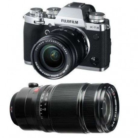 Fujifilm X-T3 Silver + Fujinon XF 18-55 mm f/2.8-4 R LM OIS + Fujinon XF 50-140mm F2.8 R LM OIS WR Black | 2 Years Warranty