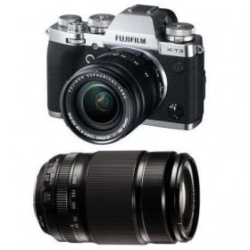 Fujifilm X-T3 Silver + Fujinon XF 18-55 mm f/2.8-4 R LM OIS Noir + Fujinon XF 55-200mm F3.5-4.8 R LM OIS Noir