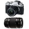 Fujifilm X-T3 Silver + Fujinon XF 18-55 mm f/2.8-4 R LM OIS Noir +  Fujinon XF 55-200mm F3.5-4.8 R LM OIS Noir   Garantie 2 ans