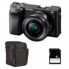 Sony Alpha 6400 Nu Noir + SEL E PZ 16-50 mm f/3,5-5,6 OSS + Sac + SD 4 Go