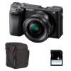 Sony Alpha 6400 Cuerpo Negro + SEL E PZ 16-50 mm f/3,5-5,6 OSS + Bolsa + SD 4 Go | 2 años de garantía